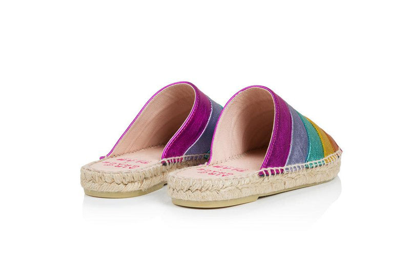 SOLD OUT: Mardi Gras - a rainbow slipper espadrille