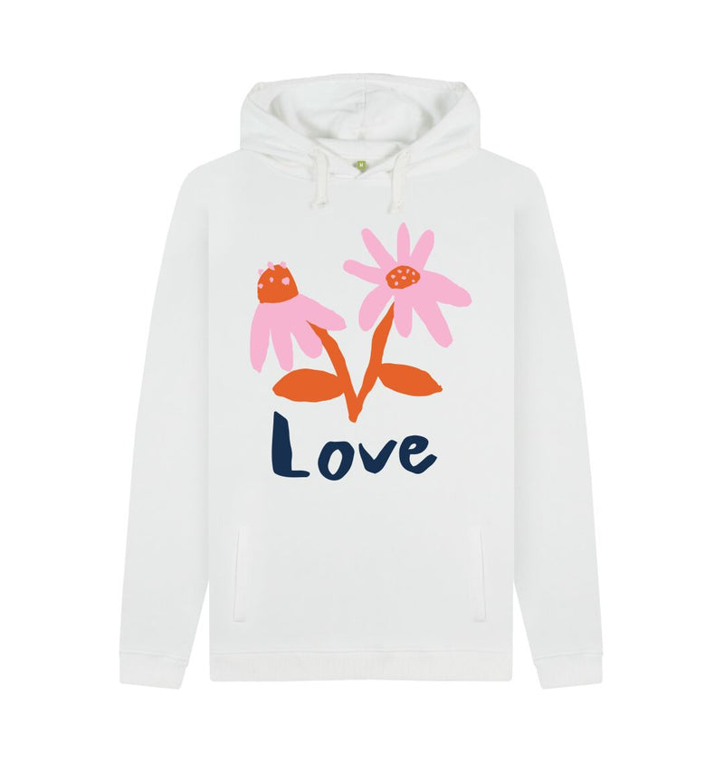 White LOVE Hoodie by Emma Make