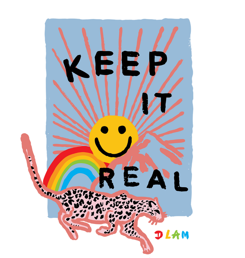 KEEP IT REAL Sweatshirt by Sophie Ward
