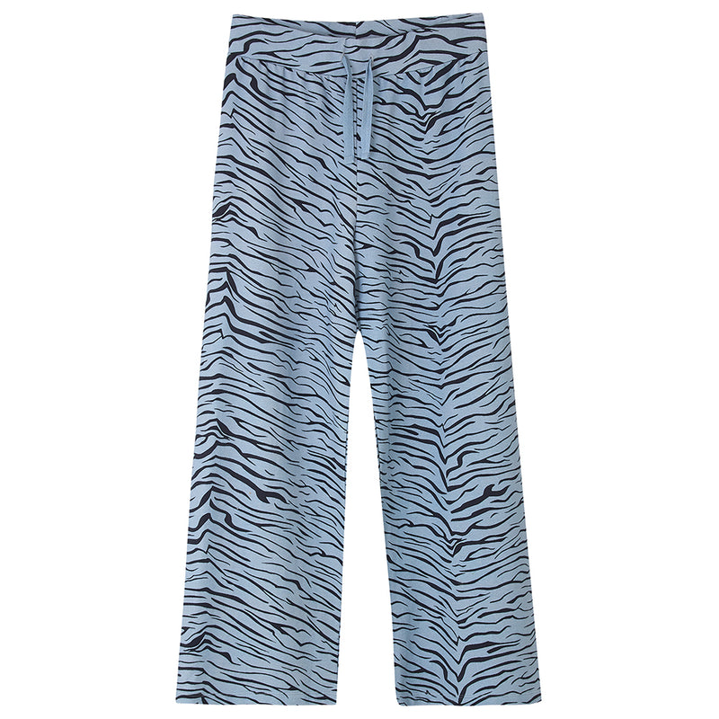 FOX & TAYLOR X DLAM ZIGGY LOUNGE BOTTOMS Blue