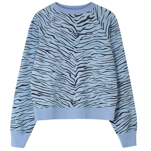 FOX & TAYLOR X DLAM ZIGGY LOUNGE TOP Blue