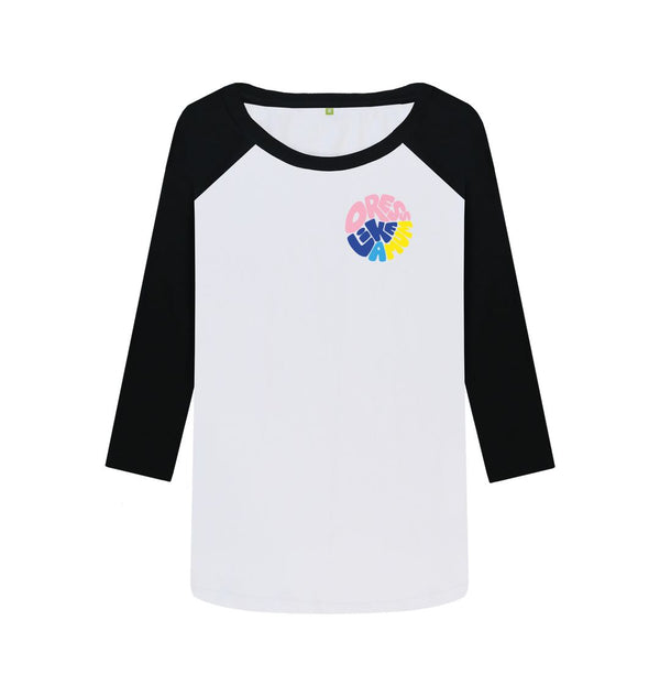 Black-White DLAM Round by Ginny Pickles Baseball Top