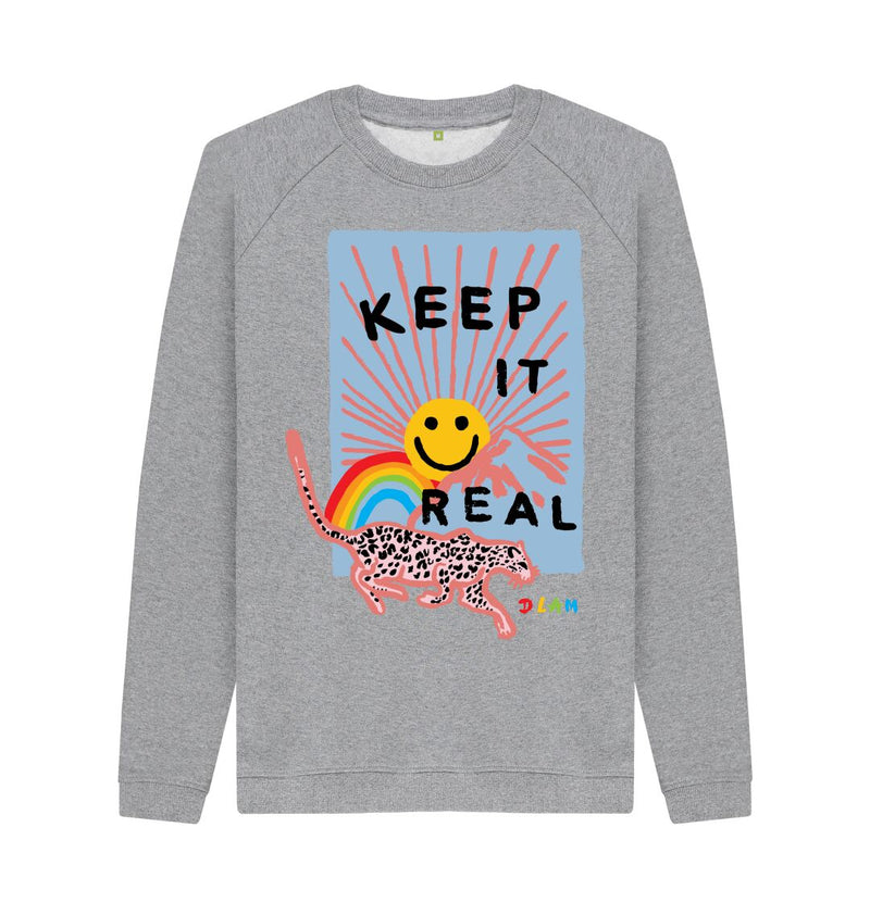 Light Heather KEEP IT REAL Crew Neck Sweatshirt