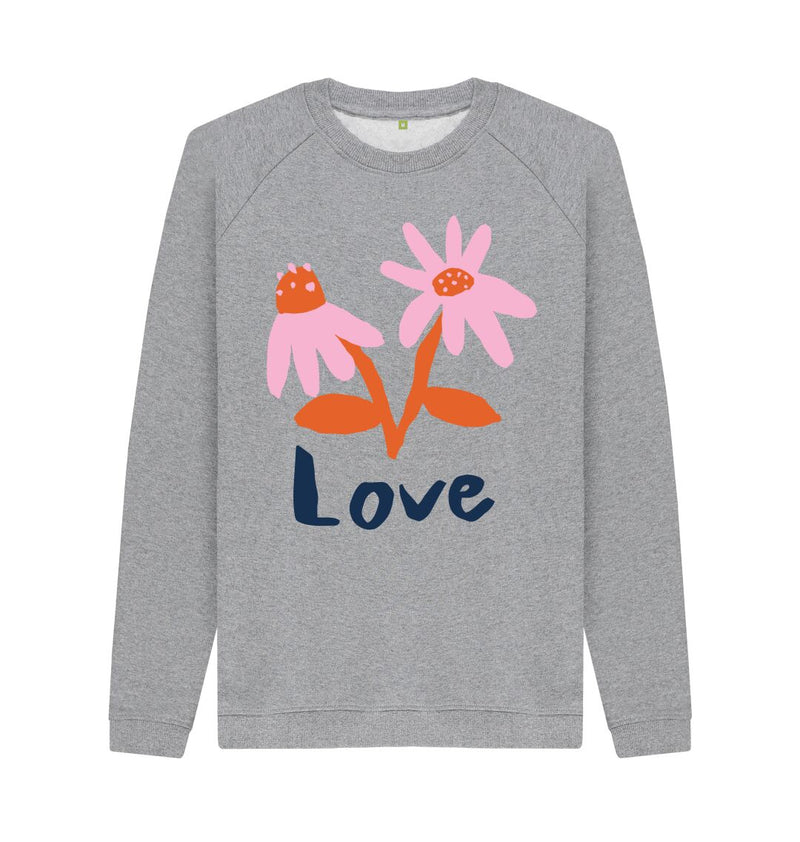 Light Heather LOVE Sweatshirt by Emma Make