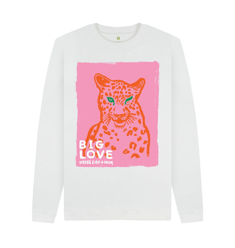 White BIG LOVE Crew Neck Sweatshirt