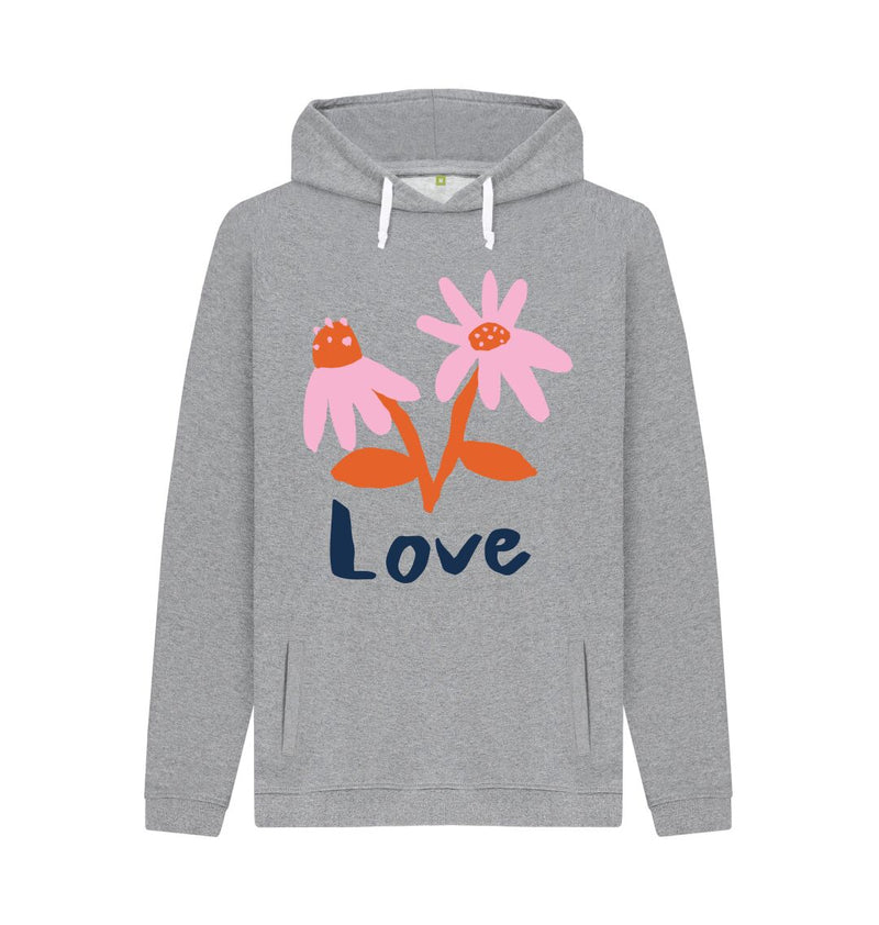 Light Heather LOVE Hoodie by Emma Make