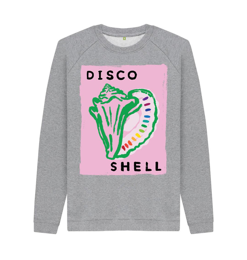 Light Heather DISCO SHELL Crew Neck Sweatshirt