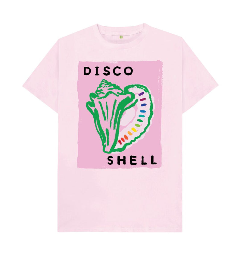Pink DISCO SHELL T-shirt (Pale pink)