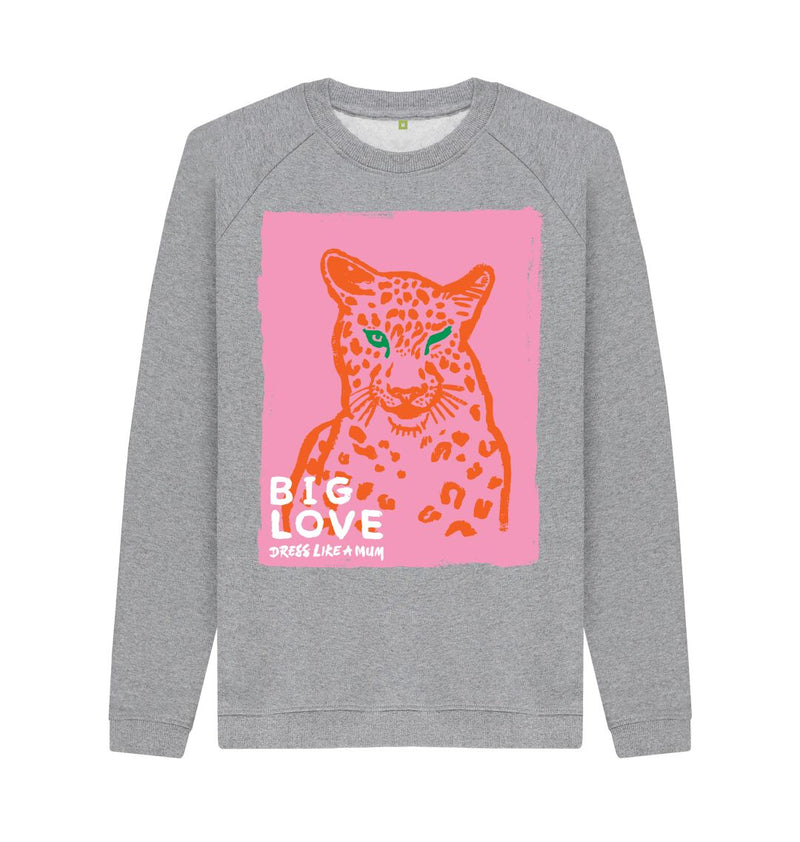 Light Heather BIG LOVE Crew Neck Sweatshirt