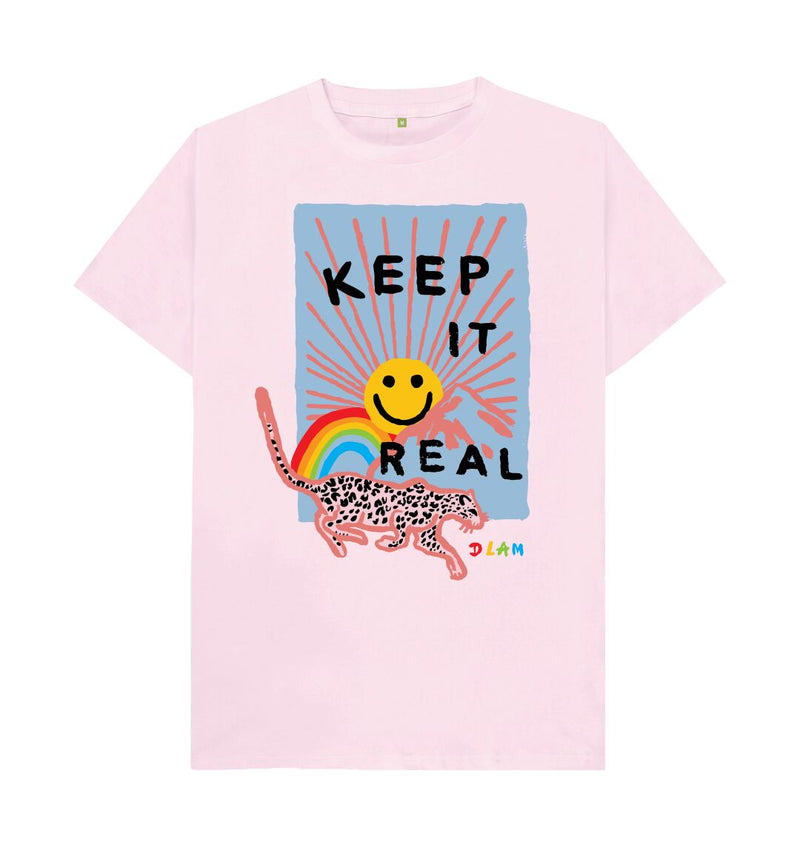 Pink KEEP IT REAL T-shirt Men's fit