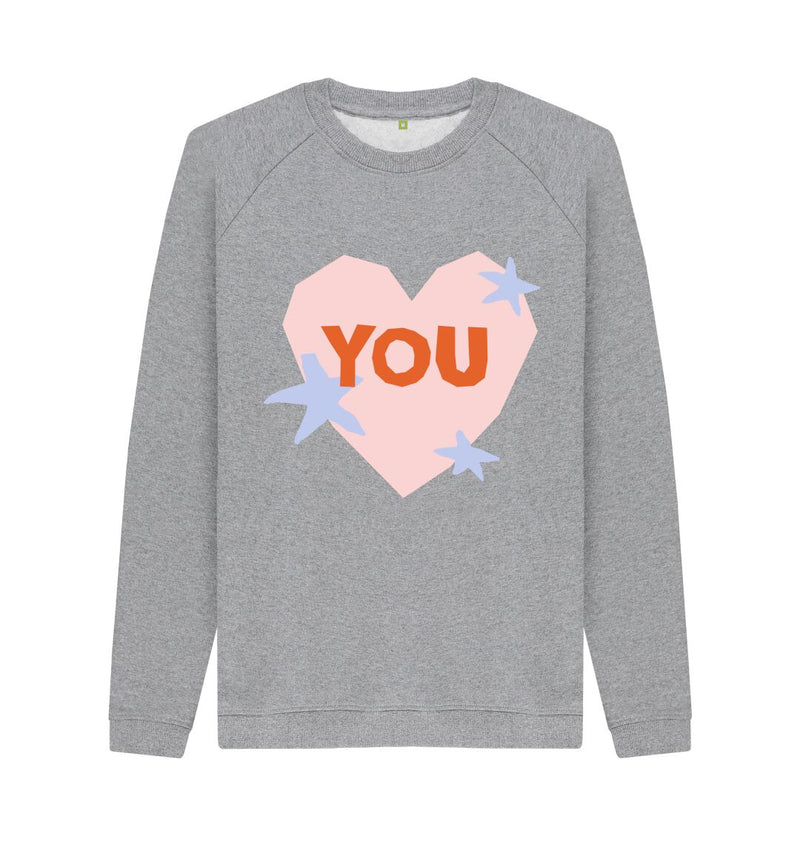 Light Heather YOU Sweatshirt by Emma Make