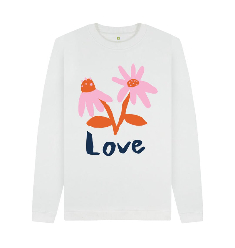 White LOVE Sweatshirt by Emma Make