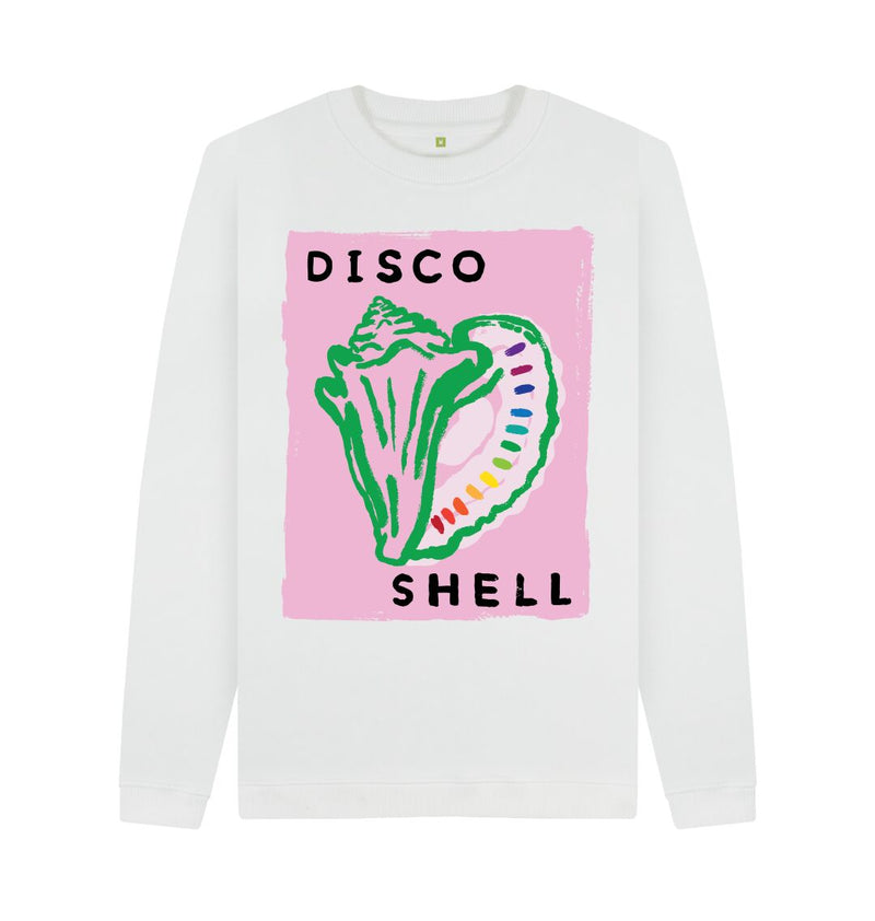 White DISCO SHELL Crew Neck Sweatshirt