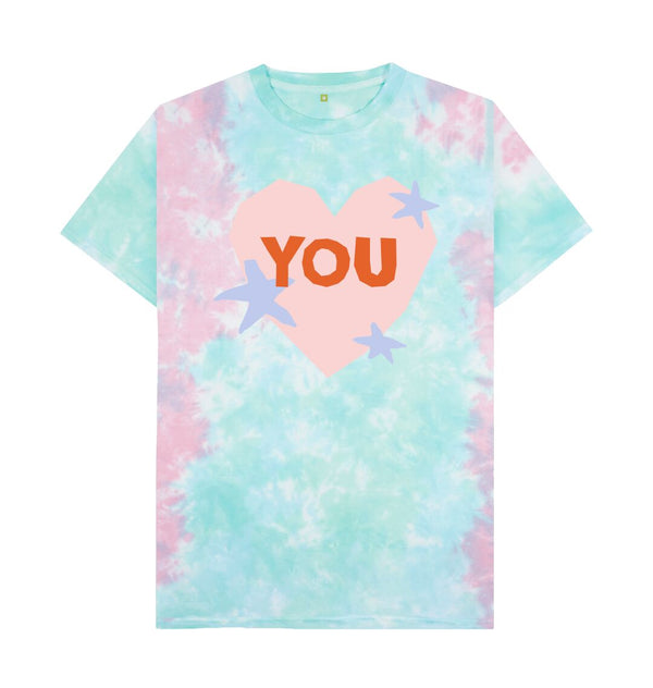 Pastel Tie Dye YOU Tie Dye T-shirt by Emma Make