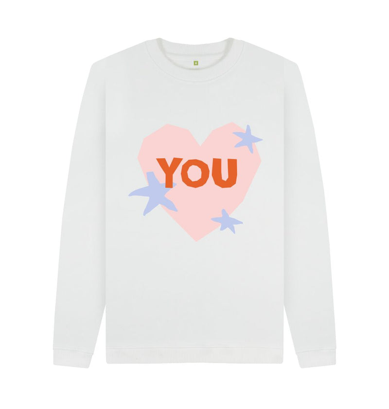 White YOU Sweatshirt by Emma Make