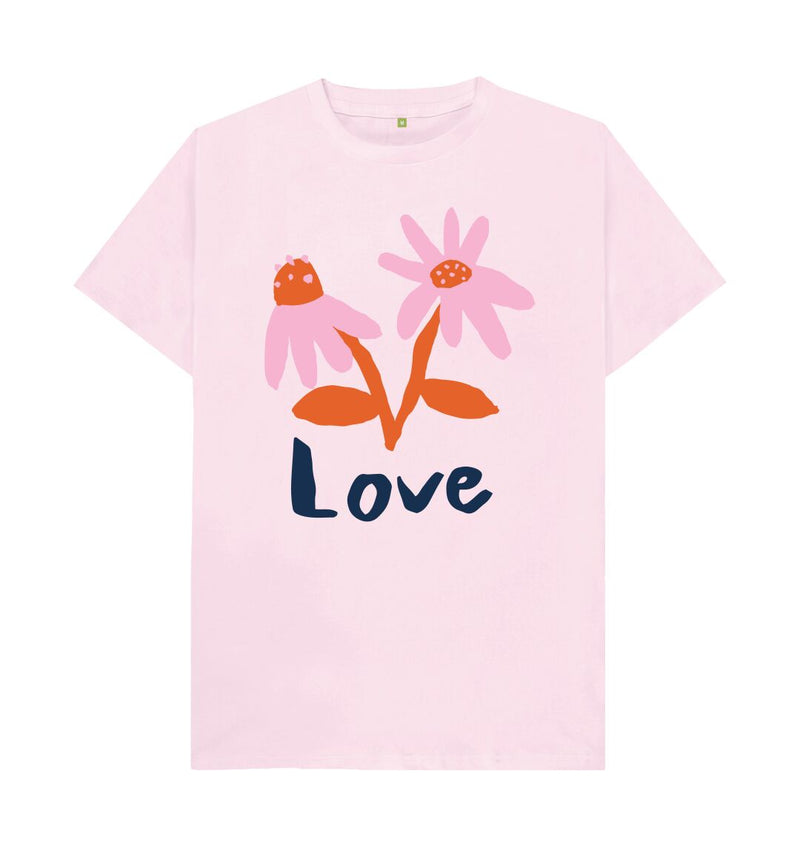 Pink LOVE T-shirt by Emma Make