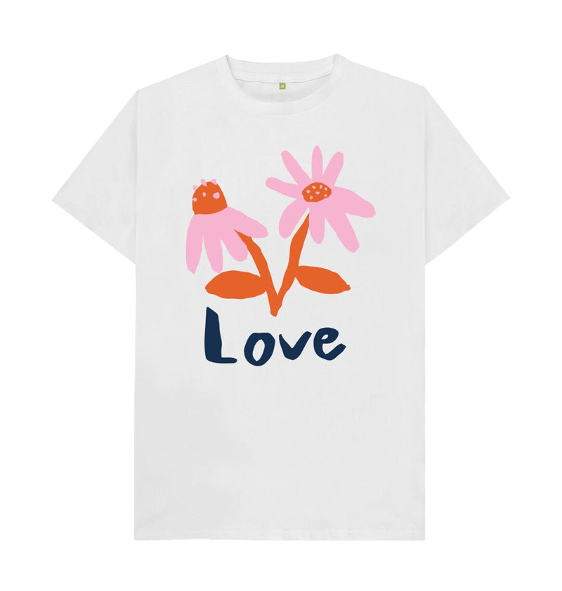 White LOVE T-shirt by Emma Make