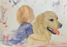 Load image into Gallery viewer, Custom Water Colour Pet Portraits - A4