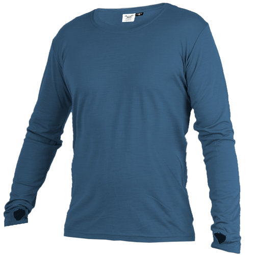 Merino 365 OG Long Sleeve with Thumbloops Top, Airforce blue