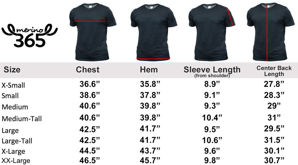 Merino 365 Men's Crew Short Sleeve T, Black