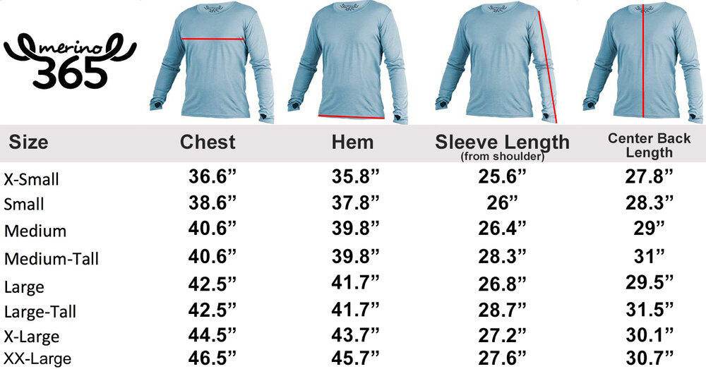 Merino 365 OG Long Sleeve with Thumbloops Top, Kale Green