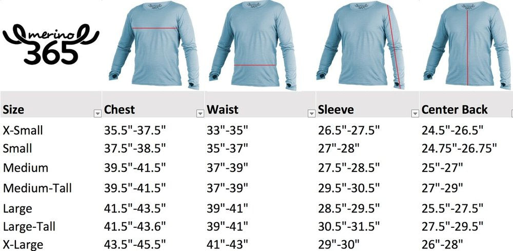 Merino 365 OG Long Sleeve with Thumbloops Top, Blue marle