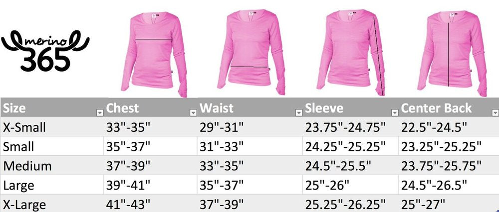Merino 365 Women's OG Long Sleeve with Thumbloops Top, Lipstick