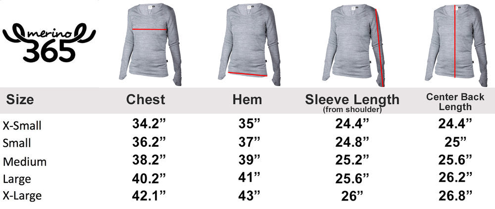 Merino 365 Women's OG Light Long Sleeve Top, Pewter Marle
