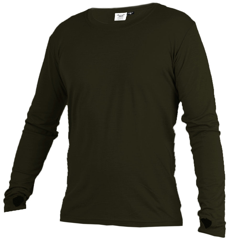 Merino 365 OG Long Sleeve with Thumbloops Top, Military Green