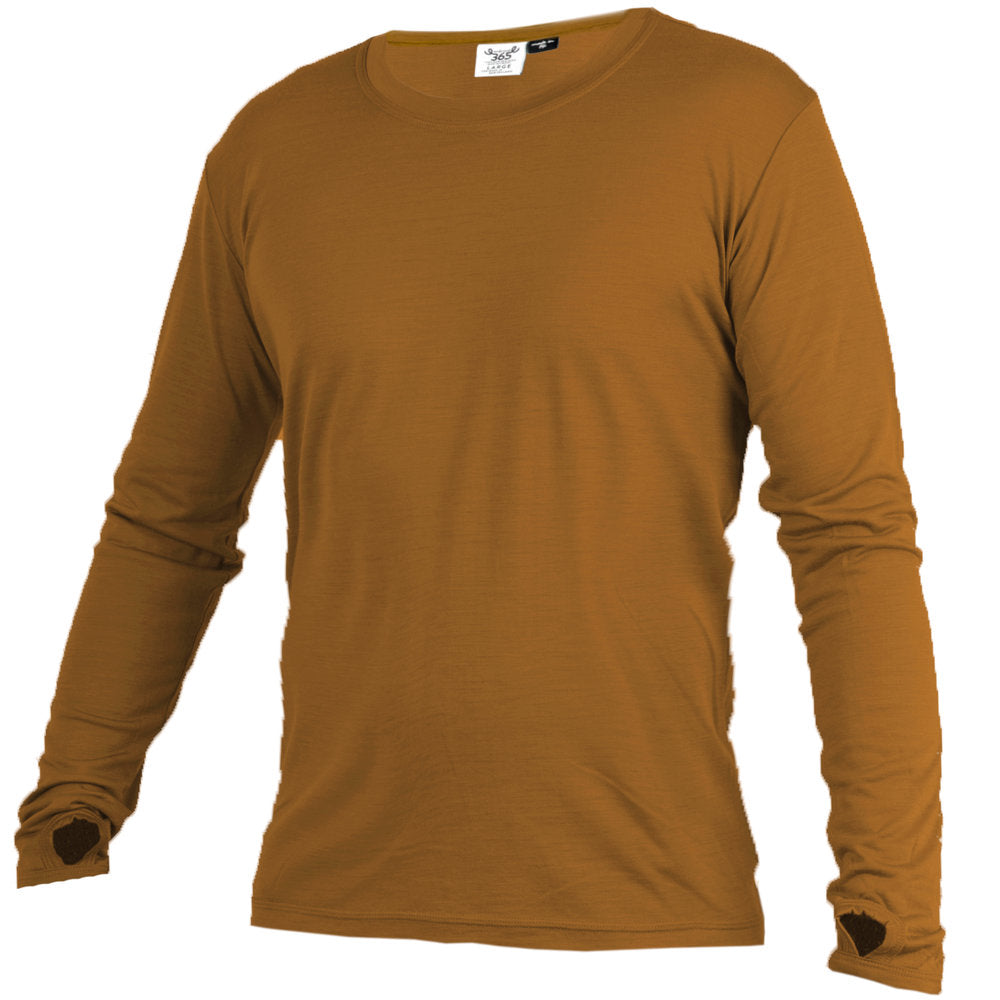 Merino 365 OG Long Sleeve with Thumbloops Top, Ochre