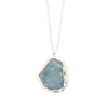 Calming Aquamarine Slice Necklace
