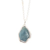 Soothing Aquamarine Slice Necklace