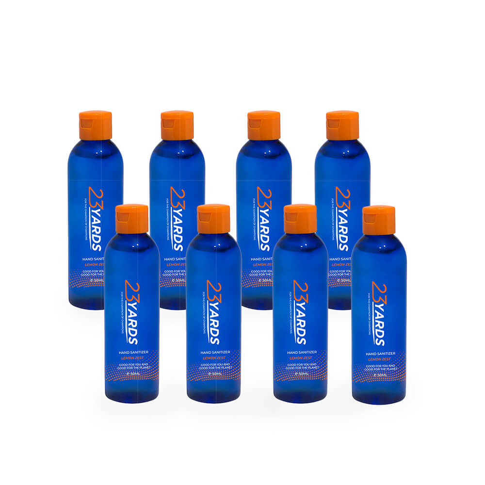 Shop Pack of 8, 50ml Hand Sanitiser from 23 Yards on SublimeLife.in. Best for keeping them hydrated, soft and 100% germ-free!