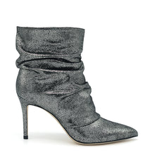 Load image into Gallery viewer, Dayana. <br> Gunmetal calfskin ankle boots