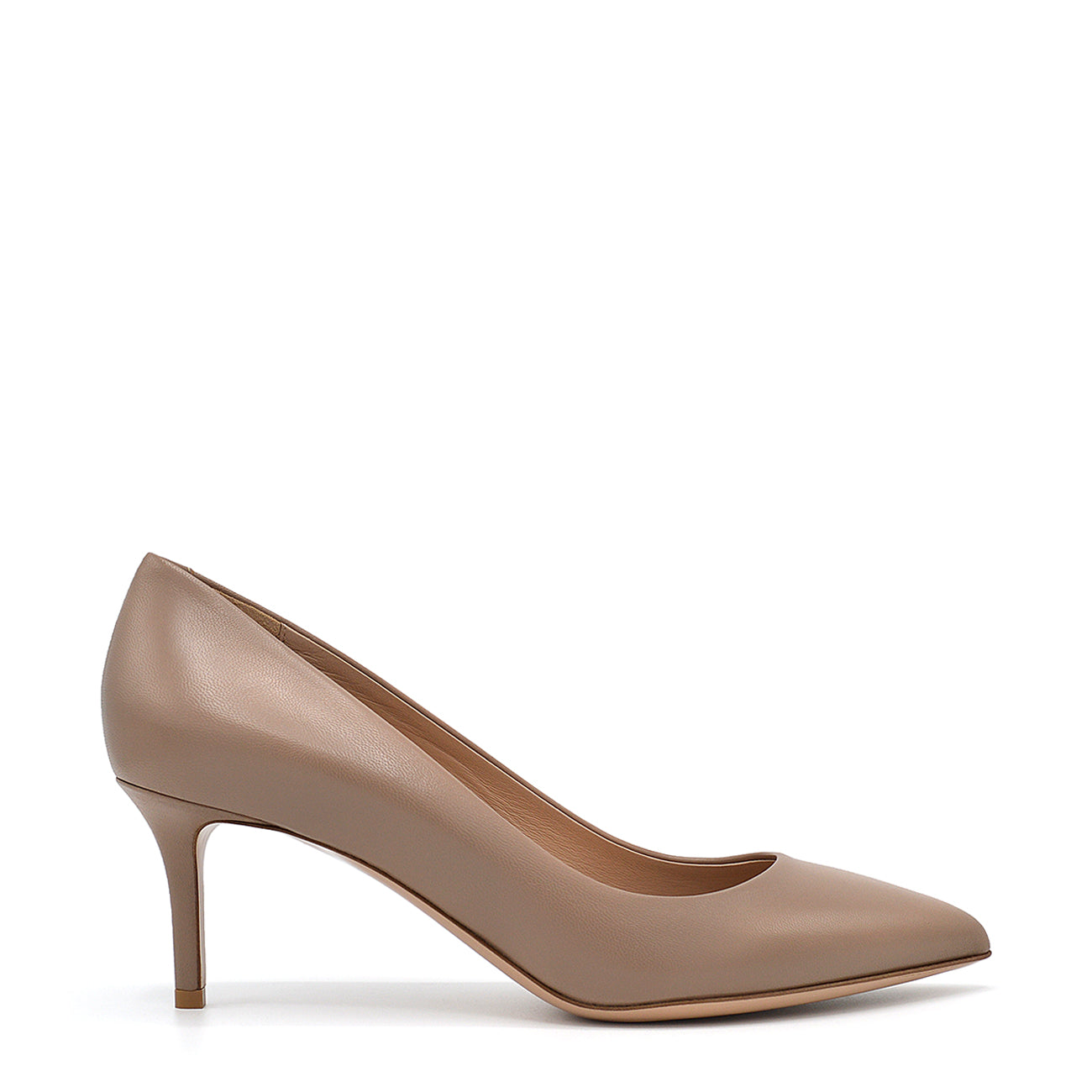Glory. <br> Bardon beige nappa leather pumps