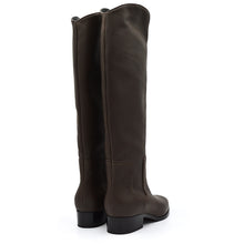 Load image into Gallery viewer, Isaby. <br> Espresso brown calfskin knee-high boots