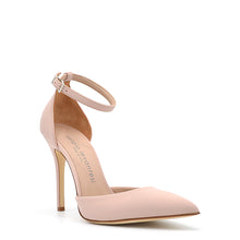 Load image into Gallery viewer, Lamya. <br> Ankle strap skin pink rubberized pumps