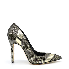 Load image into Gallery viewer, Laura. <br> Platinum calfskin pumps