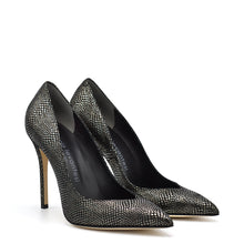 Load image into Gallery viewer, Lexy. <br> Dracena black calfskin pumps