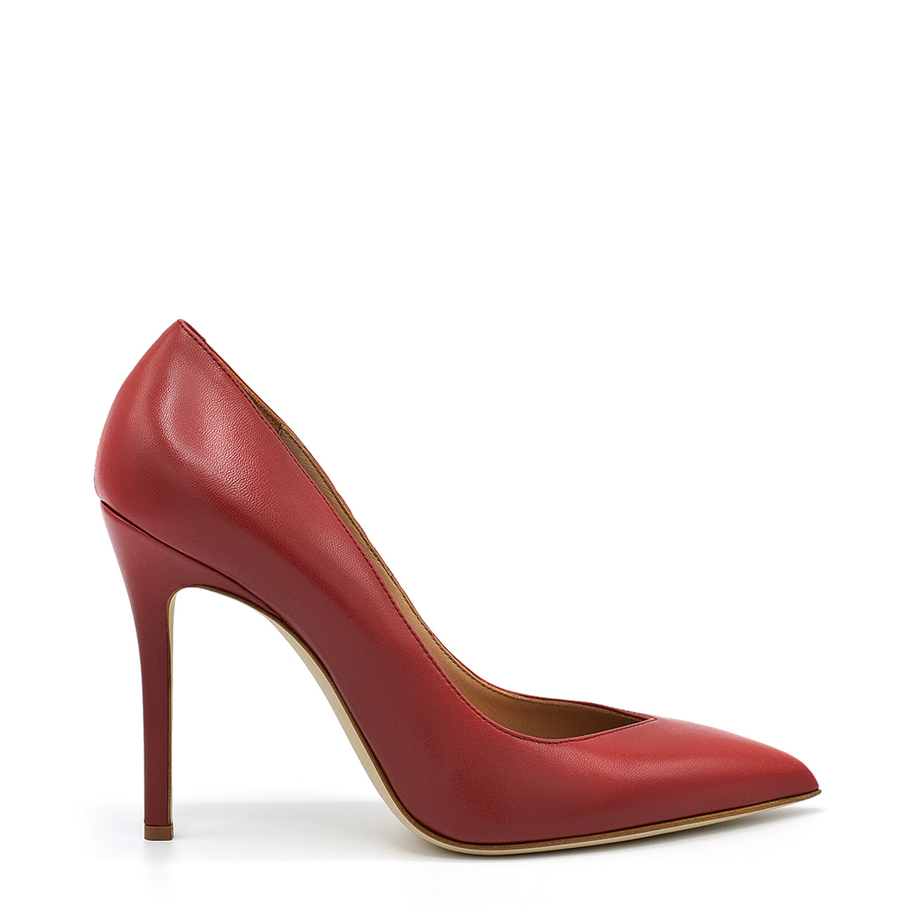 Lexy. <br> Passion red nappa leather pumps