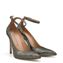 Load image into Gallery viewer, Lyve. <br> Ankle strap platinum calfskin pumps