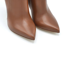 Load image into Gallery viewer, Margy. <br> High-heel fox brown nappa leather ankle boots