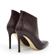 Load image into Gallery viewer, Melody. <br> High-heel wine nappa leather ankle boots
