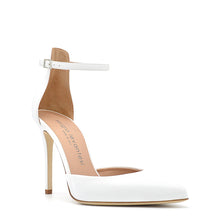 Load image into Gallery viewer, Mery. <br> Ankle strap white vinil pumps