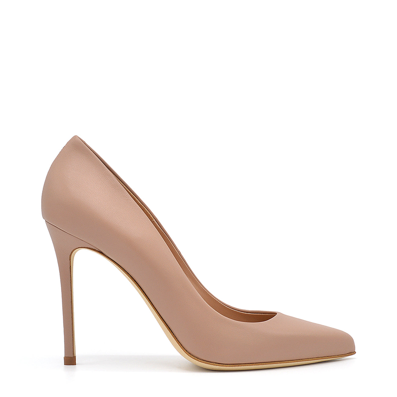 Myss. <br> Timeless natural nappa leather pumps