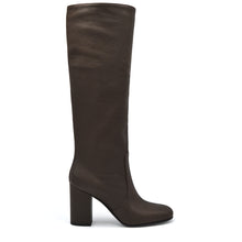 Load image into Gallery viewer, Nikyta. <br> Espresso brown calfskin knee-high boots
