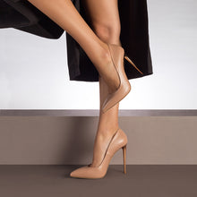 Load image into Gallery viewer, Queen. <br> Timeless stiletto heel natural calfskin pumps