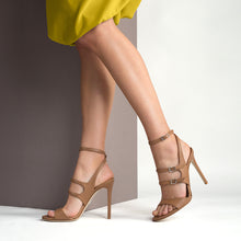 Load image into Gallery viewer, Rebecca. <br> Ankle strap cocco brown calfskin sandals