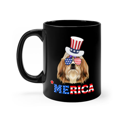 Shih Tzu Black Mug 11oz
