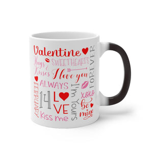 Valentine Day Color Changing Mug - Magic Mug - Unique Coffee Mug - Ceramic Coffee Mug - Valentines Day Mug - Best Friend Gift